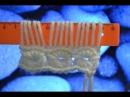 Вязание на линейке крючком Knitting on the ruler hook