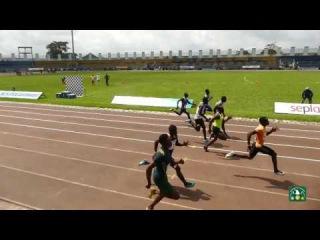 Watch Divine Oduduru win the 100m Semifinal 2 at the Nigerian Olympic Trials