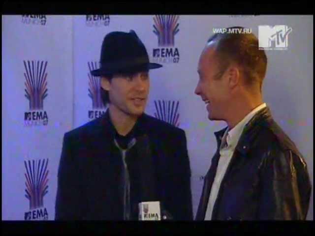 Jared Leto interview MTV Russia EMA 2007