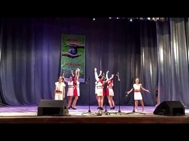 Hovhanes Kherimyan Elen Harutyunyan Вокальная студия TSIATSAN на фестивале в Грузии Nov 23 2015