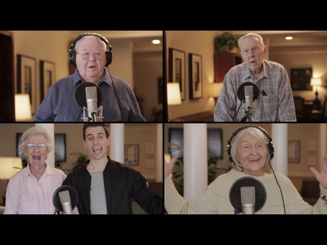 Seniors perform amazing Acapella! DayItForward Collab (пенсионат)