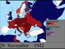 Вторая Мировая Война на карте Европы день за днём