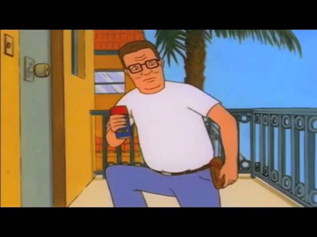 Hank Hill proves WD40 is the answer to all problems