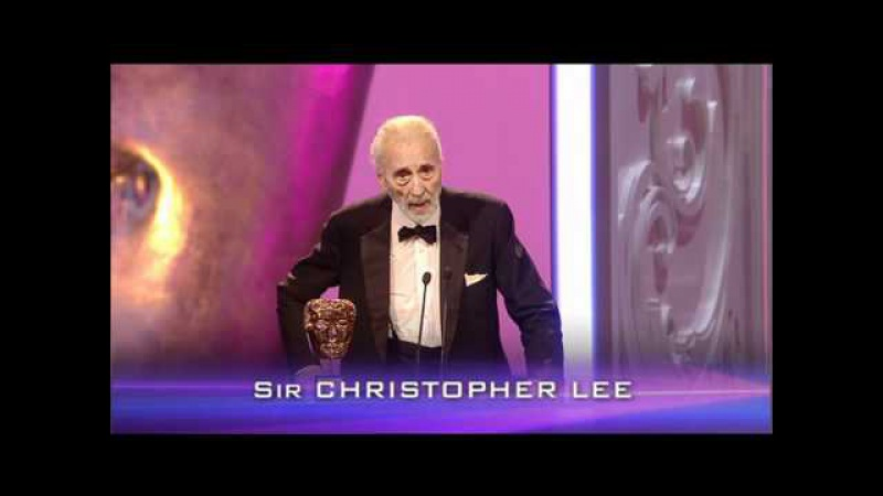 Sir Christopher Lee Bafa 2011 Orange British Academy Film and Televisions Awards
