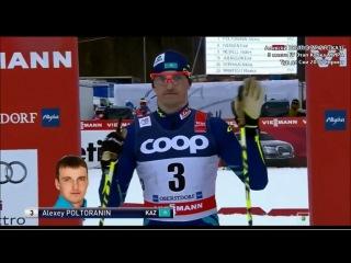 А.Полторанин (КАЗ) - 3 место лыжные гонки IV Этап Кубка Мира / Tour de Ski-2016 Sprint men Bronze