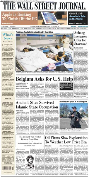 The Wall Street Journal Europe  March 29 2016
