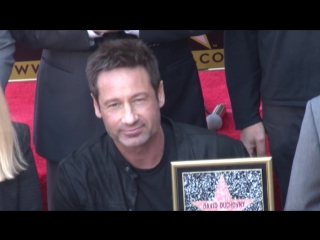 X-Files star David Duchovny unveils his star on the Hollywood Walk of Fame