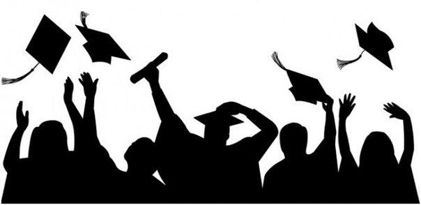 graduate silhouette clipart - 1280×720