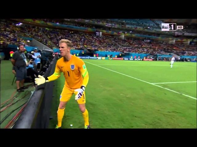 The REACTION of Joe Hart after Andrea Pirlo's free kick England 1 2 Italy 15 06 2014