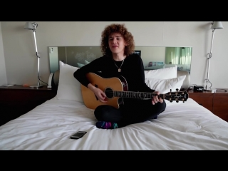 "Francesco Yates performs ""Sugar"" in bed and in colorful socks :-)"
