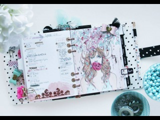 My Prima Planner Page Spread, Watercolor + Foiling with Sharon Laakkonen on Live with Prima