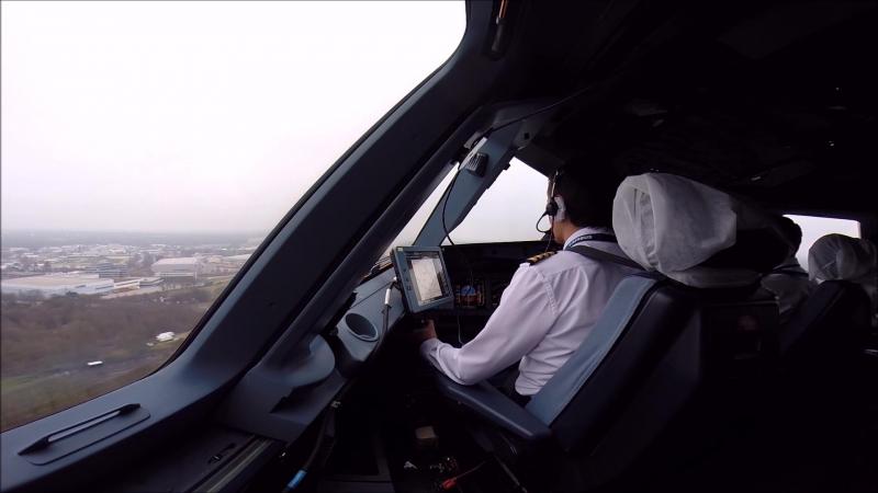 Аirbus-321, посадка в Гамбурге