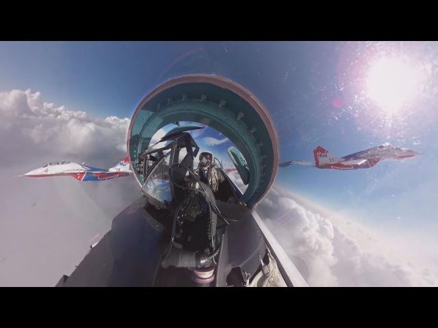 Видео 360: Репетиция воздушной части парада Победы из кабины Су-27 «Русских витязей»