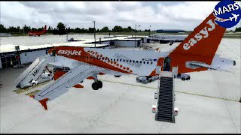 Prepar3D Easyjet A319 London Gatwick EGKK Jersey EGJJ