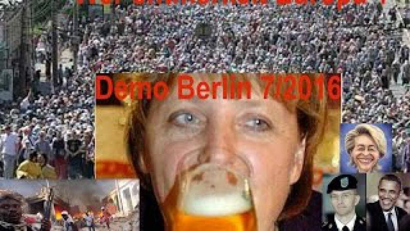 Die Regierung letzte Zuckungen der Elitenschande Großdemo in Berlin
