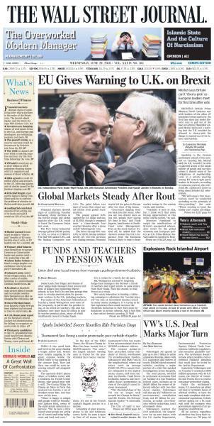 The Wall Street Journal Europe - 29 June 2016
