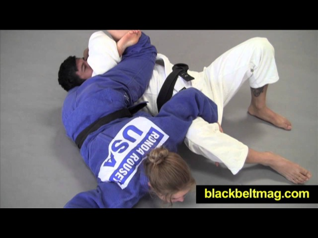 Judo Videos Sankaku-Jime Demonstrated by Ronda Rousey, MMA Fighter and Olympic Judoka