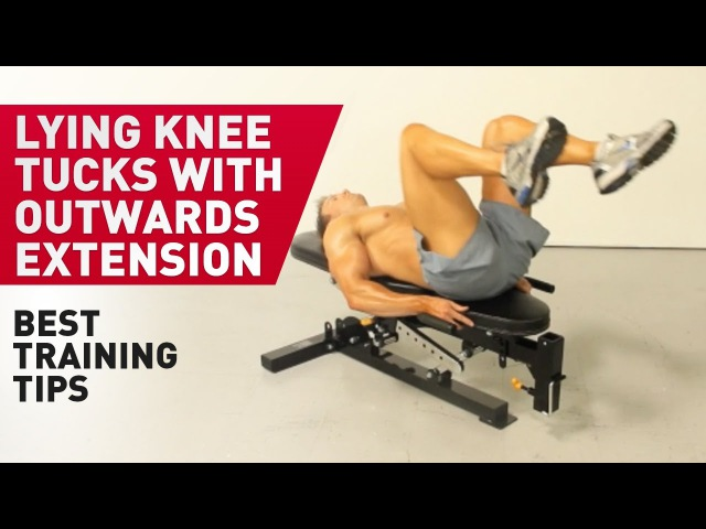 Lying Knee Tucks with Outwards Extension Technique FitABS Exercise Guide