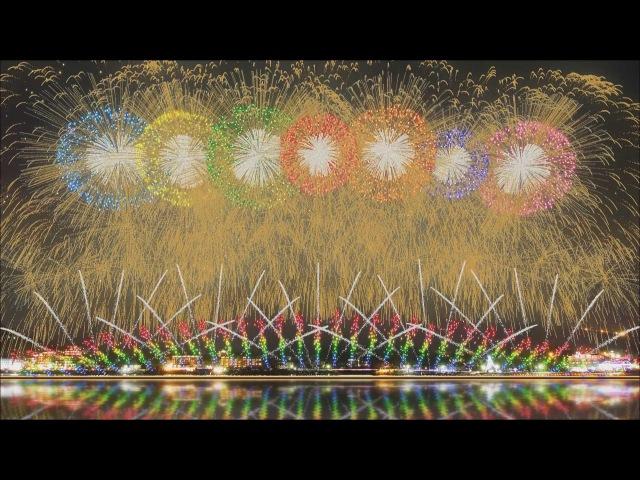 FWsim Mount Fuji Synchronized Fireworks Show2