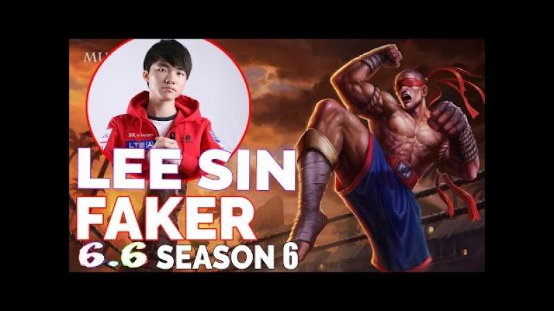 SKT T1 Faker Stream Best Play | Lee Sin vs Garaves | JUNGLE | Full Gameplays Patch 6.6