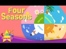 Kids vocabulary Four Seasons 4 seasons in a year English educational video for kids