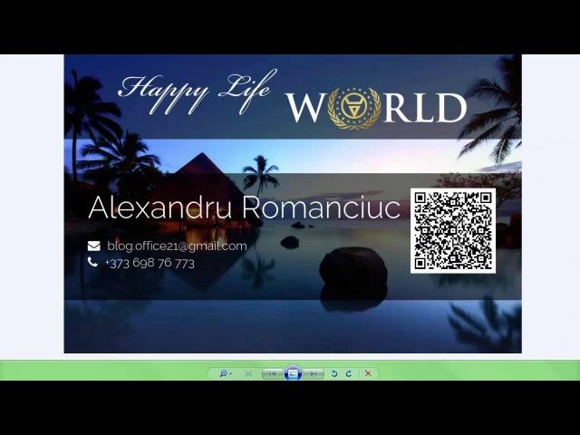 Happylife world без вложений регистрация и обзор кабинета от AlexRoman
