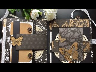 Scrapbooking Mania by  Scrapbooking Mini Album Butterflies and Love