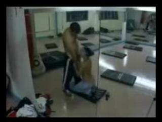Hidden camera records arab couple having sex in the gym