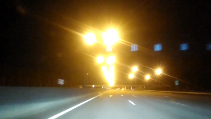 On the road. night out. tver