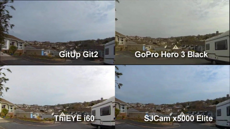 GoPro Hero 3 Black против Git2, SJCam 5000X, ThiEYE i60 и Eken H9