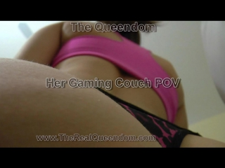 Her gaming couch pov facesitting joi, piss, farting, jei, pissing, toilet, strapon, slut, spitting, ass, feet, fetish