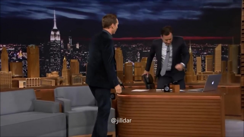 Benedict and Martin dance on Jimmy Fallon