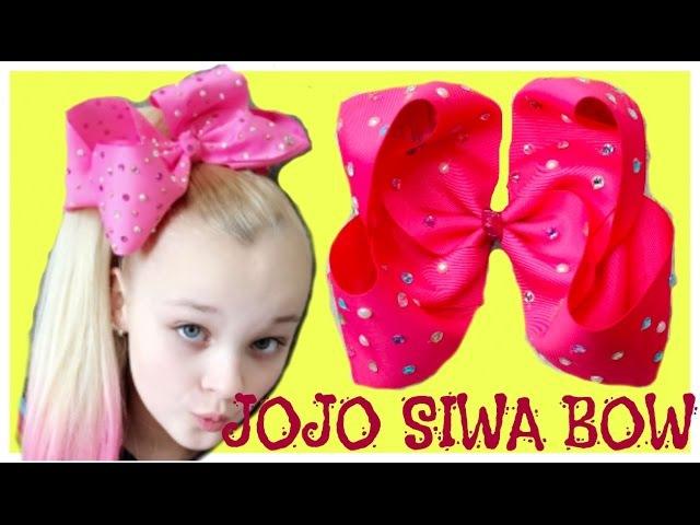 HOW TO JOJO SIWA BOW   Como Hacer Un Moño Inspirado en JOJO SIWA, Moño Boutique Jumbo 3 pulgadas