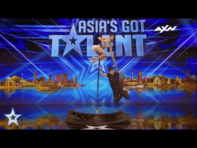 Ryun Jin Pole Dancing Fairy Backstage Interview Asia's Got Talent 2017