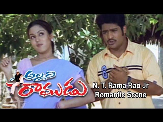 Allari Ramudu Telugu Movie N T Rama Rao Jr Romantic Scene Gajala Arthi Agarwal ETV Cinema