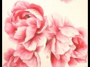 Watercolor Peonies - Hot Pressed 300lb - Painting Demonstration