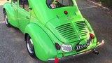 Renault 4 CV. Kermit walk around.
