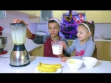 Бананово-молочный коктейль с мороженым Очень простой рецепт