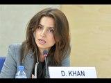 Deeyah Khan and Hina Jilani at United Nations Human Rights Council