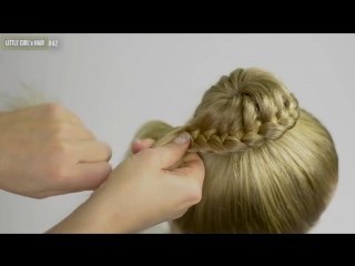 6 simple and beautiful hair buns __ summer hairstyles. compilation of hairstyles #6