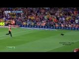 Черный кот на матче Барселона - Эльче Black cat Barca - Elche 2014 HD