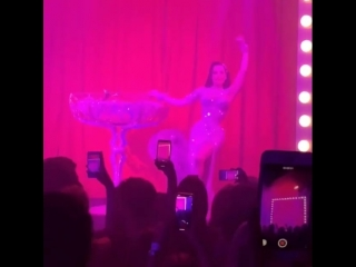 Wow Dita Von Teese was amazing , this opening party of F*** ME I'M FAMOUS will be one of my best memories !