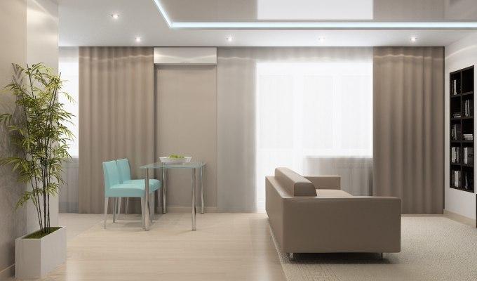 Дизайн — проект квартиры — студии, 32 кв.