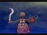Hindus Very Horrible Dance Of Black Lady = Devil Kali godess Of Violence
