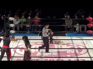 Hiromi Mimura, Konami & Starlight Kid vs. Oedo Tai (Hana Kimura, Kagetsu & Kris Wolf)