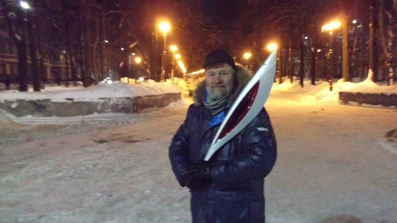 Олимпийский факел в Перми