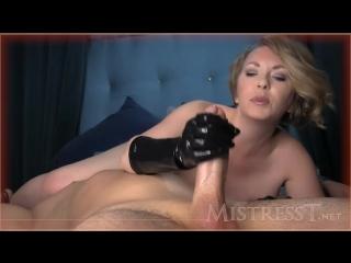 [clips4sale] mistress t - rubber glove wank