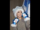 Юлия Барановская в гостях у Деда Мороза
