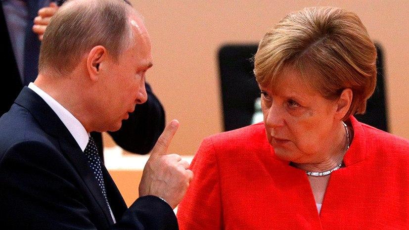 Путин в разговоре с Меркель высказался об ударах Запада по Сирии