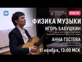 Научно-популярная лекция Физика музыки 11 ноября в 13:00 мск (ПГНИУ)